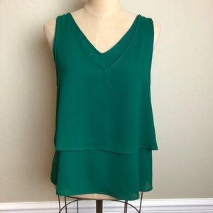 Anthropologie double layered sleeveless top